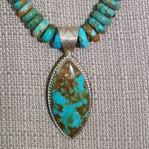 JAY KING Rare  Sonoran turquoise necklace